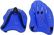 HiQiGiBi Contoured Swim Training Hand Paddles,Adjustable Straps, Exercise Gloves Palm for Women and Men,1 Pair