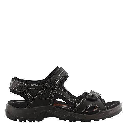 - ECCO Men's Yucatan outdoor offroad hiking sandal, Black Lux Leather, 50 EU (US Men's 16-16.5 M)
