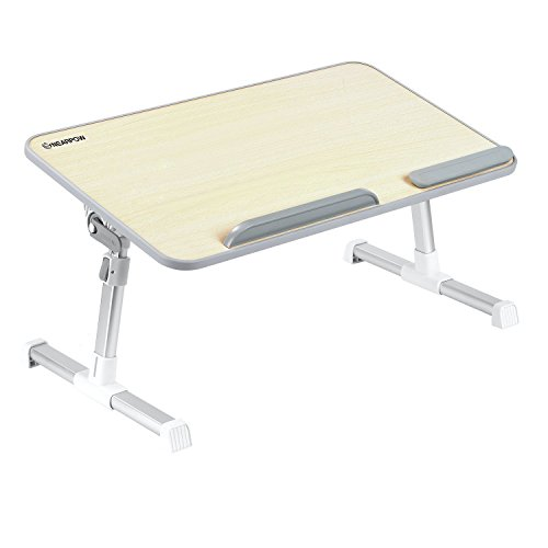Nearpow Laptop Bed Tray Table, Adjustable Laptop Stand, Portable Standing Desk, Laptop Table, With Foldable Legs, Foldable Sofa Breakfast Table, Notebook Stand Reading Holder For Couch Floor