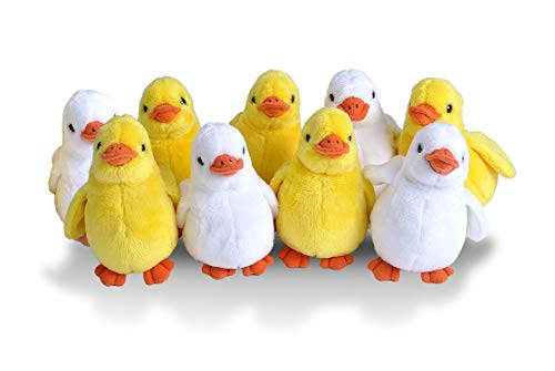 Wild Republic Duckling Plush, Duck Stuffed Animals, Baby Easter Basket, Easter Eggs, Party Favors, 9-Pieces ()