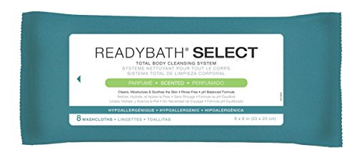 medline-msc095106-readybath-select-medium-weight-cleansing-washcloths-natural-scent-8-x-8-pack-of-24