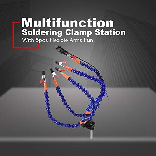 bras /étranges rotatif flexible avec divertissement Bleu /étau de table assemblage de r/éparation station de serrage soudure banc de soudure Aider les mains station 5pcs