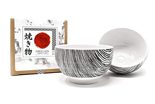 Traditional Japanese Porcelain Rice Bowls - Made in for sale  Delivered anywhere in USA