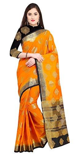 ilk Zari Weaving Work Kanjivaram Saree With Blouse (JOPLNS2005D_Mustard_Free Size) ()