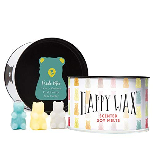Happy Wax- Fresh Mix, Scented Soy Wax Melts - Bear Shapes Perfect for Mixing Melts in Your Warmer!