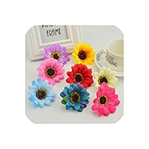 April With You 5pcs Silk Daisy Stamens for Garden Home Wedding Decoration Accessories Fake Chrysanthemum DIY Wreath Artificial Flowers 8