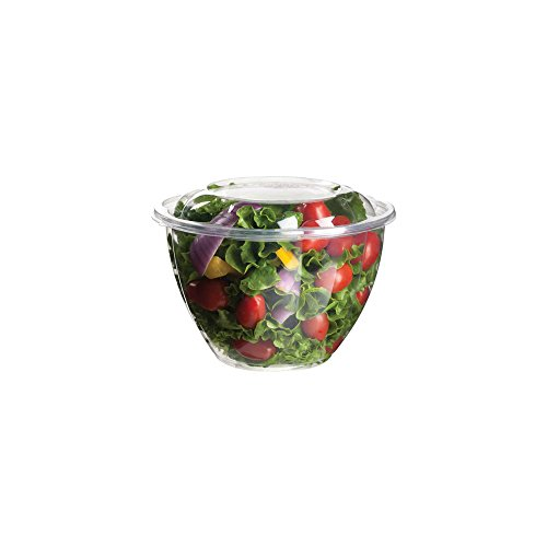 48 Ounce Bowl (Eco-Products Renewable & Compostable Salad Bowls, 48 oz Bowl with Lid, Case of 150 (EP-SB48))