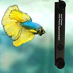 Betta Heater - Fully Submersible Aquarium Heater - Automatically Reaches Preset Temperature - Energy-efficient Heating Module - Easy Installation with Suction Cups