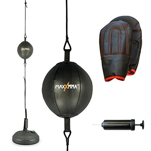 MaxxMMA Double End Striking Punching Bag Kit by MaxxMMA