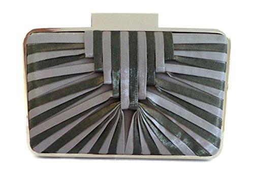 sondra-roberts-satin-stripe-minaudiere-box-clutch-shoulder-bag-gray