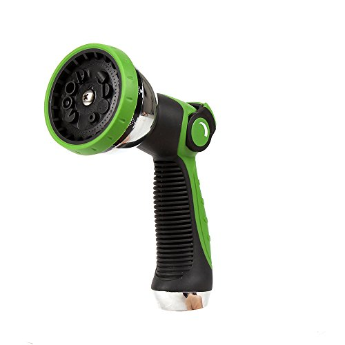 DAS GARDEN Garden Hose Nozzle/Hand Sprayer-10 Pattern Metal Watering Nozzle-Pistol Grip Front Trigger-Thumb Control Suitable for Car Wash, Cleaning, Watering Lawn and Garden for Washing Dogs & Pets ()