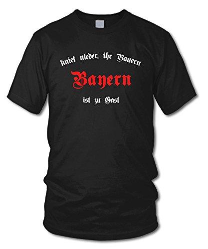 shirtloge - BAYERN - Kniet nieder ihr Bauern - Fan T-Shirt - Größe S - XXL