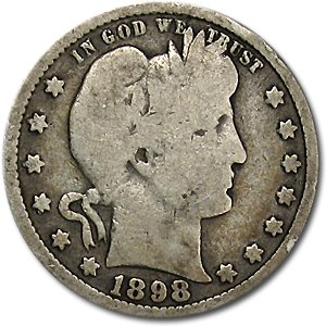 1898 Barber Quarter Good/VG Quarter Good