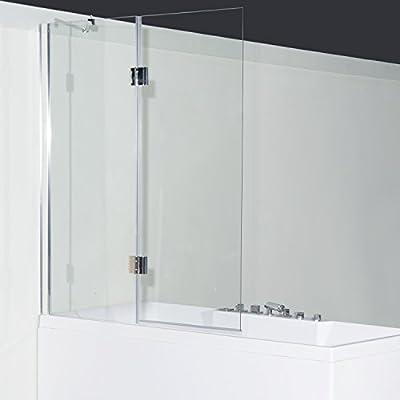 Homcom 2 piezas Mampara de ducha bañera plegable pared cristal 1200 X 1400 X 6 mm): Amazon.es: Bricolaje y herramientas
