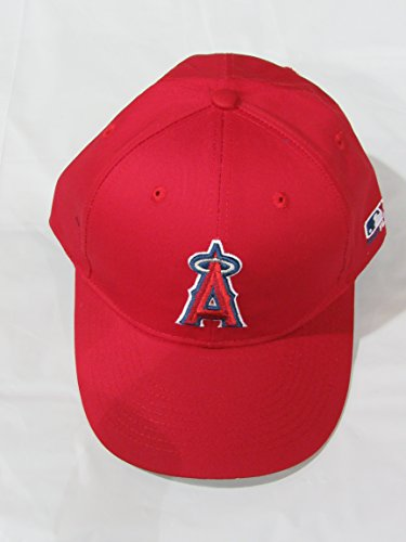 Los Angeles Angels ADULT MLB Cap (CF2 Visor Shaped Flat or Curved) Official Major League Baseball Adjustable Velcro Replica Hat (Angels Visor)
