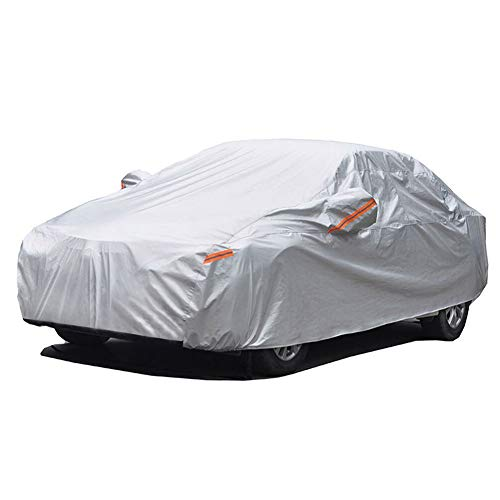 GUNHYI Outdoor Car Covers for Automobiles Waterproof all Weather, 6 Layer Heavy Duty Cover Sun uv Protection, Universal Fit Sedan (Length 180-191inch)