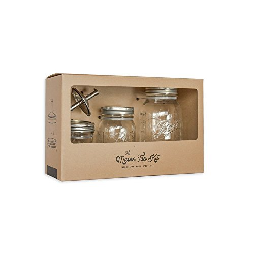 (W&P Design the Mason Tap Kit, Clear & Silver)
