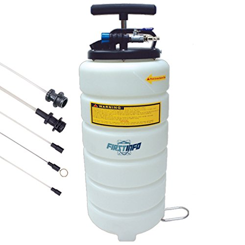 Manual 15l - FIRSTINFO 15L Pneumatic and Manual Operation Oil or Fluid Extractor with 5 pcs Hose