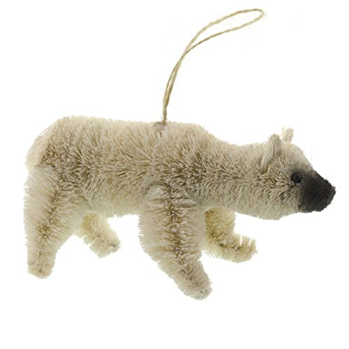 Christmas Tablescape Decor - Polar bear bottle brush ornaments - Set of 2 by My Swanky Home