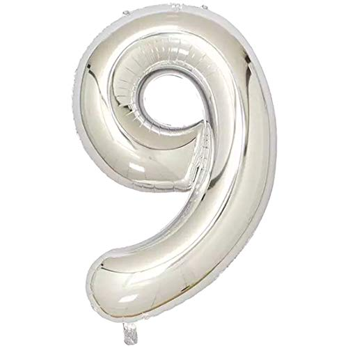 Supplies Party - Wedding Balloons 32 Inches Silver Digit Foil Number Inflatable Birthday Balloon Party - Jasmine Supplies Superheroes Mermaid Cinderella Nieves Baby Shoes Summer Monster -