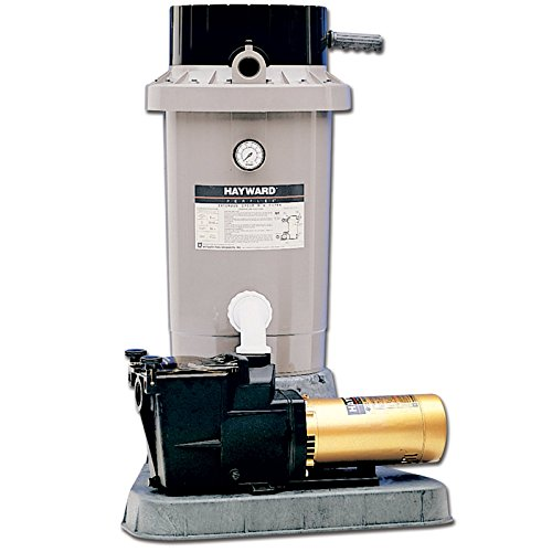 Hayward EC75 Extended Cycle DE In Ground Pool Filter System with 1 Horsepower Pump