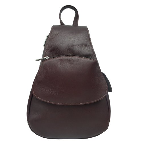 Piel Leather Flap-Over Sling, Chocolate, One Size by Piel Leather
