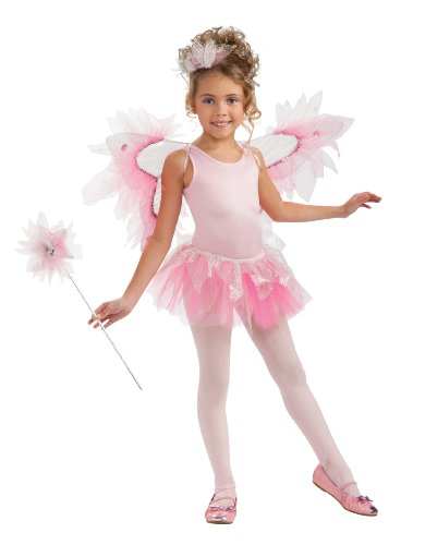 [Rubie's Costume Co Pink Fairy Wings Kit, Pink, One Size] (Sequin Tinker Bell Adult Costumes)