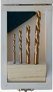 BGS technic PRO+ - Brocas de corte a izquierda, acero rápido, 4 unidades, en caja de madera