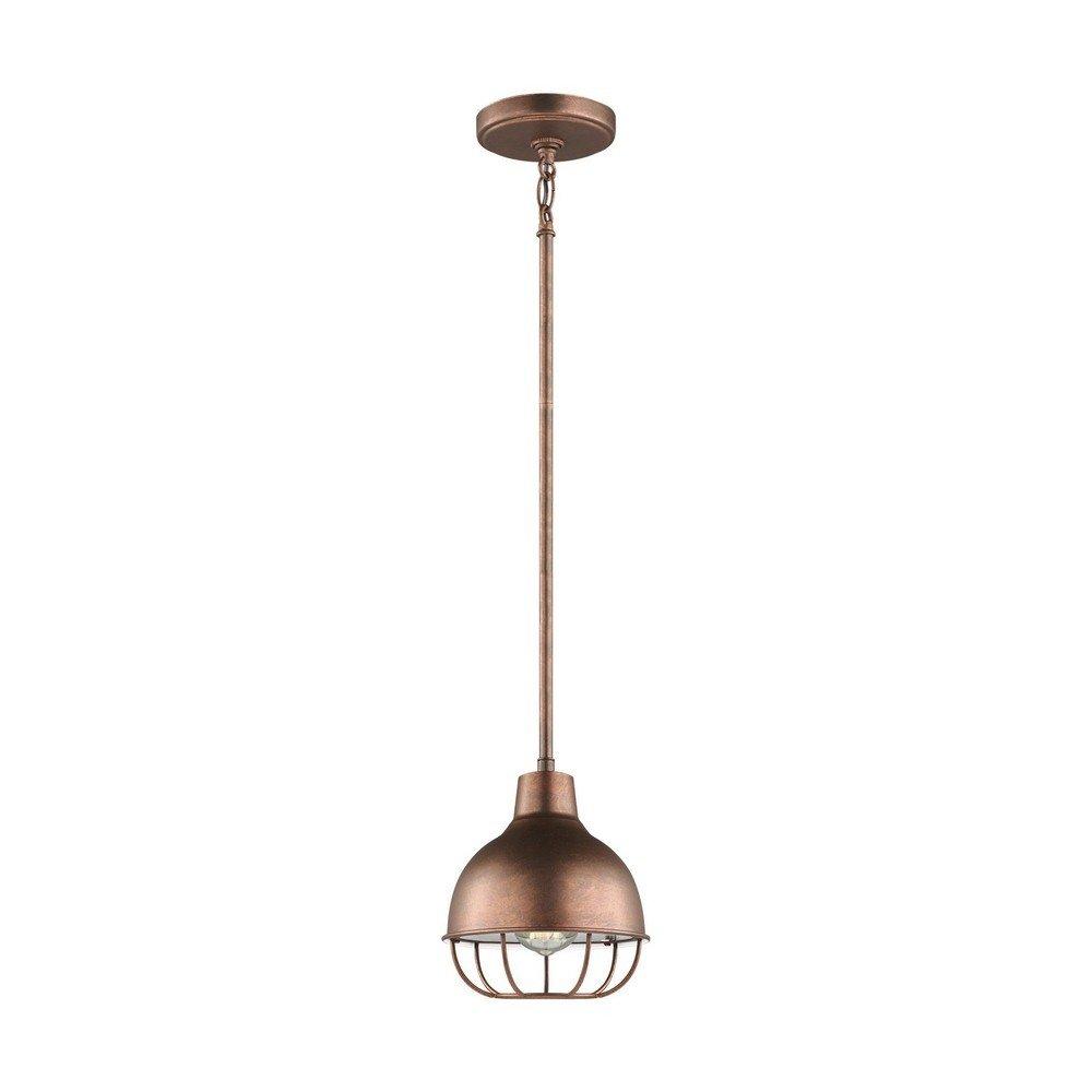 Sea Gull Lighting 6146501-44 One Light Mini-Pendant, Weathered Copper