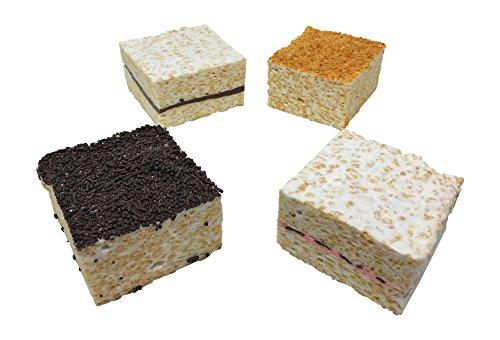 Choc Coconut (Gourmet Marshmallow Crispy Rice Treats - 4 Cakes (Choc. Caramel, Raspberry Choc., Coconut, Sprinkles))