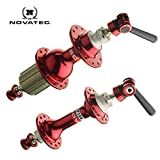 Novatec Road Bike Front and Rear Hubs 20 Front/24