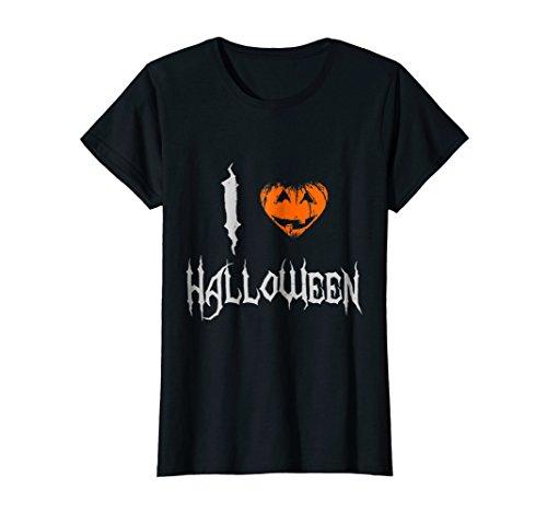 Womens I Love Halloween T-Shirt Large