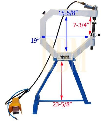 Planishing Hammer English Wheel AIR Pneumatic Radius Anvil 1'' 2'' 3'' Floor Stand by Generic