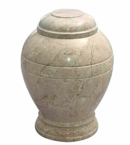 Khan Imports Decorative Marble Pet Urn, Stone Pet Cremation Urn for Small Dog or Cat Ashes - Up to 20 Pounds ()