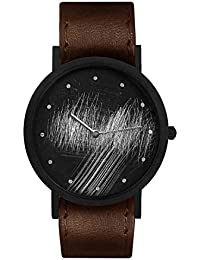 Stainless Steel Swiss-Quartz Leather Calfskin Strap, Black, 20 Casual Watch (Model: core-SL-164)