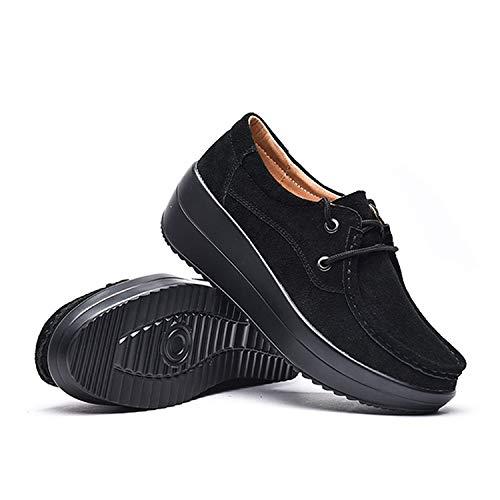 Fatyet 船型底ナースシューズ レディース ダイエットシューズ 厚底スニーカー 姿勢矯正 ダイエット 美脚 軽量 レースアップ ウォーキングシューズ 看護師 作業靴 歩きやすい 疲れない 婦人靴 厚底シューズ