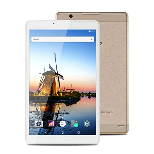AOSON R103 10.1 Inch Tablet Android 7.0 Nougat MTK Quad Core Processor IPS 1280x800 Touch Screen 2GB RAM 32GB Storage with Dual Camera Bluetooth 4.0 WiFi GPS Golden Android Tablets - Gps 4.0 Android