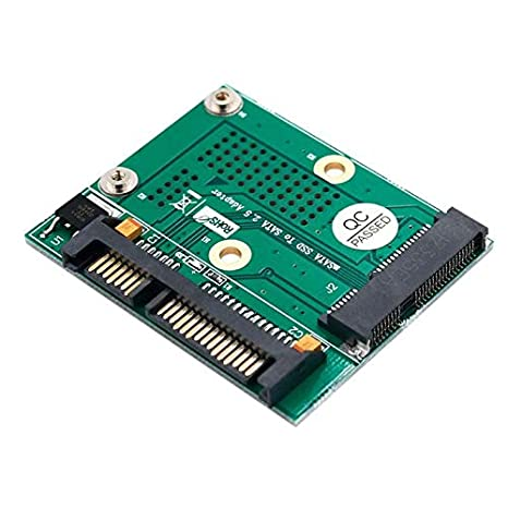 Cable Length: Other Computer Cables Msata to 2.5 Inch SATA SSD Adapter Converter Card Module Board with Metal Extension Bracket for Half-Size Full-Size msata