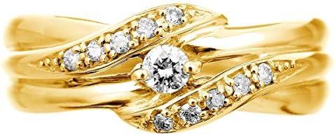 cococaruダイヤ リング ダイヤモンドリング ダイヤモンド 指輪 レディース 10金 10k K10 ゴールド イエローゴールド ピンクゴールド ホワイトゴールド ギフト 贈り物 記念日 プレゼント 日本製(イエローゴールド 15)