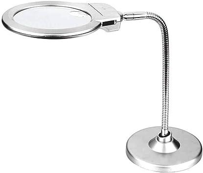 Lupa de Lectura de Mesa de luz LED: Amazon.es: Electrónica