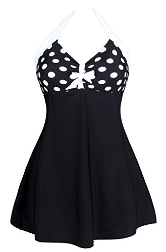 Aleumdr-Womens-Vintage-Sailor-Pin-Up-One-Piece-Skirtini-Cover-Up-Swimdress