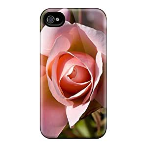Tpu Case Cover Compatible For Iphone 4/4s/ Hot Case/ Pink Rose Bud