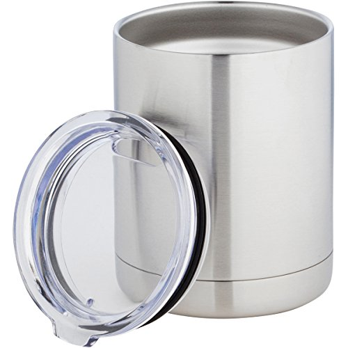 Zephyr Goods Stainless Steel Lowball Tumbler | 10 oz Insulated Travel Coffee Mug with Lid | Double Walled Camp Cup Coffee Tumbler | Shatterproof Whiskey Glass | Perfect Gift ()