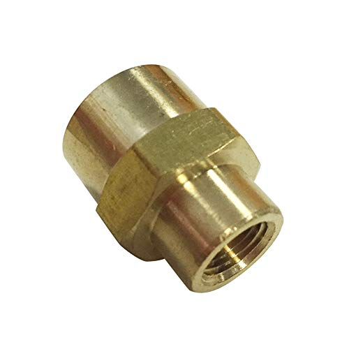 "Legines Brass Pipe Fitting, 1/4"" NPT Female x 1/8"" NPT Female Reducing Coupling (Pack of 2)"