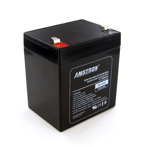 Amstron 12V/5AH Sealed Lead Acid Battery w/ F1 Terminal AP-1250F1