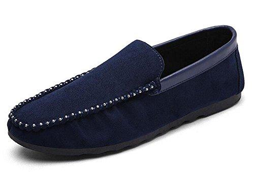 SHIXR Männer Frühling Sets Of Feet Herren Erbsen Schuhe Korean Light Tägliche Casual Schuhe Deer Snack Schuhe Sport , blue , 42