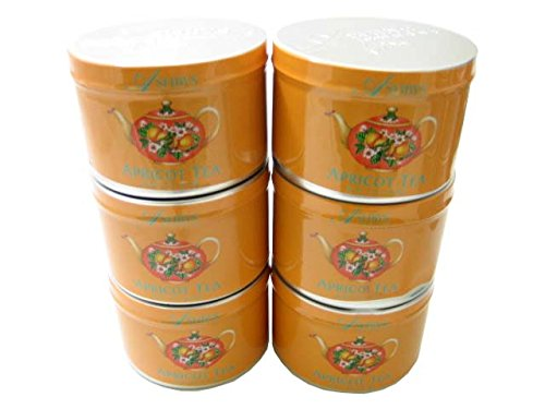 Apricot Loose Leaf Tea 2 Ounce Tin by Ashbys of London Tea (Case of 6)