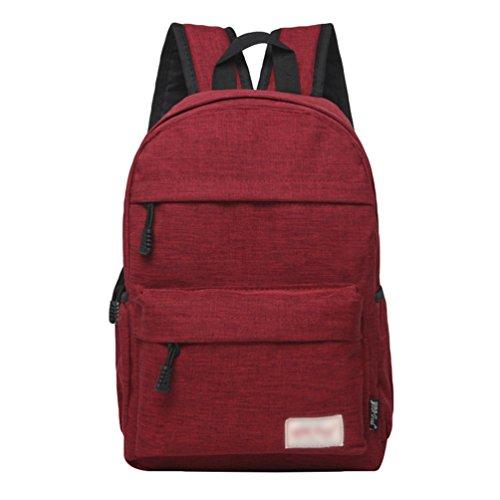 Estudiantes Backpack Viaje de ZKOO al Mujeres Ocio Lona Portátil Libre Mochilas Mochila Hombres Mochila los de de Rojo Daypacks de Aire 6qFBwxqt
