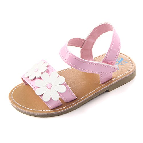Annnowl Baby Girls Sandals Flowers Summer Shoes