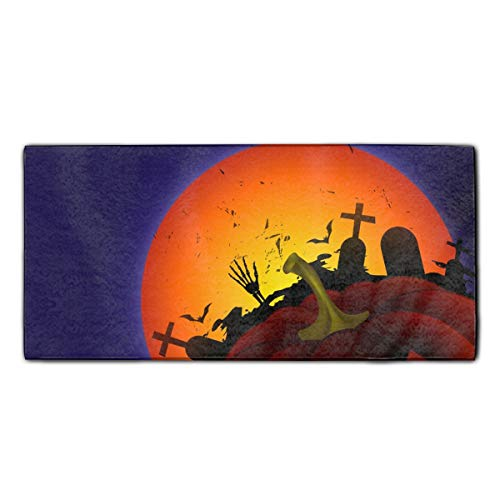 Scary Halloween Face Printed Microfiber Cleaning Cloth/Guest Hand Towel for Drawing Room and car 11.8x27.5